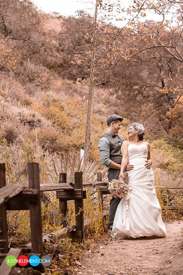 Oak Canyon Nature Ceremony Anaheim Hills Starbucks Wedding 1